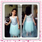 New Frozen Elsa Dress Up Gown Inspired Costume Ice Princess Queen Anna Girl 3T