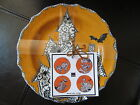 WICCAN LACE Halloween Appetizer Plates Set of 4 in ORANGE by 222