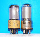 6SK7GT radio amplifier electronic vacuum 2 tubes valves tested 6SK7 mesh plates