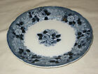 Antique WILD ROSE pattern, Adams Tunstall England Dinner Plate Blue Transfer