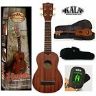 Kala MK S PACK Makala Agathis Satin Finish Soprano Ukulele Bag Tuner Bundle