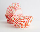 STRIPED RED CUPCAKE LINERS 50 Ct Standard Size