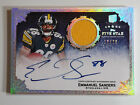 2010 TOPPS FIVE STAR EMMANUEL SANDERS ROOKIE GAME USED JERSEY AUTO #ED TO 20