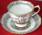 "Royal Albert ""Silver Birch"" Bone China Cup & Saucer  1940-50s"