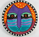 Laurel Burch Ganz Orange Salad Collector Plate PURPLE FELINE CAT  8
