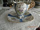 Vintage Porcelain Chocolate Cup and Saucer - Hand Painted