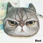 HSIL Children Cute Cat Face Zipper Case Coin Purse Wallet Makeup Bag Pouch Black