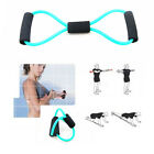 Stock Exercise Green Fitness Yoga 8 Shape Pull Rope Tube Tool Resistance Bands