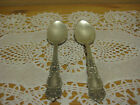 2 VERY RARE OLD ANTIQUE PAT JULY 9 1901REED & BARTON 2+ XX SILVERPLATE SPOONS