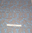 Fabric  Vintage Paisley Cotton Blue, Brown Gold  4 Yds x 36