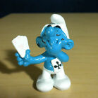 Smurf Card Player Very Rare Pink Hearts VTG Figure Toy Lot Schlumpf 20056 2.0056