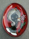 Mid Century Modern ~ Melior ~ Italy ~ Female Decorated Dish