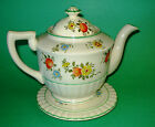Vintage Hand Painted Tea Pot with Lid and Stand Made in Japan
