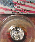 RARE 9 11 01 PCGS MS69 2001 US PLATINUM EAGLE WTC RECOVERY COIN  LOW PRICE LK