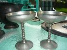 F.B. Rogers Italy 2 Silver Plated Chalice Champagne Wine Goblets