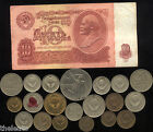 USSR COLD WAR Rare Very Old LENIN Coin Banknote Collection Dollar Ruble Big Lot