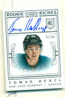 2013-14 NATIONAL TREASURES TOMAS HERTL AUTO ROOKIE RICHES CARD RC 31 99