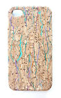 For Apple iPhone 4S 4 Designer Confetti Wood Cork Phone Cover Case Skin +Film