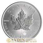 2014 1 oz Canadian Silver Maple Leaf Coin 1 Troy Ounce of 9999 Fine Silver