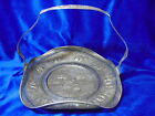 Vintage Engraved Holland Silver Over Copper Ware Handled Tray Dish AMAZING