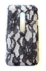 Phone Case For HTC Evo V 4G 3D Designer White Flower Lace Protective Cover