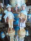 VICTORIAN BISQUE MAN & WOMAN COURTING FIGURINES STATUES MUSEUM & BRIEFCASE NR