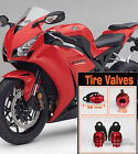 2 Pcs Red Grenade Wheel Tyre Tire Valve Stems Air Dust Cover For Honda 500 600