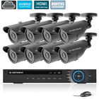 DEFEWAY 16CH HDMI Cloud DVR NVR In/Outdoor 100ft Night 800TVL Cameras System 1TB