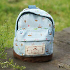 HSCN Fashion Case Coin Card Backpack Wallet Zipper Pouch Flower Canvas Gift Blue