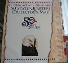 THE OFFICIAL 50 STATES QUARTERS COLLECTOR'S MAP SET UNITED STATES MINT.