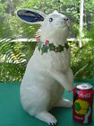 Life Size Dedham Potting Shed Bunny Rabbit Christmas Holly & Berry 14