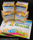 FOUR Panini 2014 Brasil FIFA World Cup BOXES 50 Packs 7 stickers PER + 2 ALBUMS