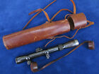 ORIGINAL GERMAN MAUSER RIFLE SNIPER SCOPE MAKER VOIGTLANDER & RARE AKAH CASE