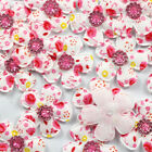 Lots 10pcs Padded Felt Flower Rhinestone Appliques Cloth Applique For Bows New