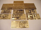 NEW  Lot of 14 UNC Gold Banknotes US and Euros!!!!!