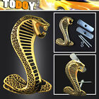 Golden Gold Cobra Snake 3D Metal Rally Racing Front Grill Grille Badge Emblem