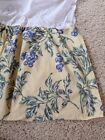 Eddie Bauer Yellow And Blue Floral Bedskirt Dust Ruffle Queen