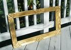 Antique GOLD CARVED VICTORIAN 1800's ORNATE Wood Picture Frame HOLDS 24 x 12