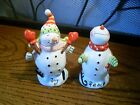 Christmas Snowman Salt & Pepper Shakers ~
