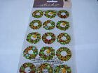 Scrapbooking Stickers Sticko Christmas Holiday Wreaths Green Red Bows Repeats