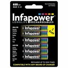 Infapower B011 Longlife AAA 650mAh NiMh Rechargeable Battery (4+2 Free Pack) New
