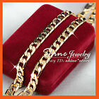 9K YELLOW GOLD GF N34 60CM FLAT RING CURB CHAIN WOMENS MENS SOLID CHARM NECKLACE
