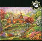 500 Pc Cardinal HD Jigsaw Puzzle - Country Side House by Lake- NEW