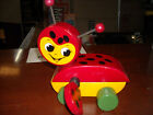 Vintage Wooden Lady Bug Pull Toy