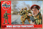 14 Airfix 1/32 unpainted plastic WWII British Paratroops toy soldiers in Box