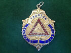 Large Solid Sterling Silver Fob Medal, Masonic Fob, Taunton P.G.L Medal