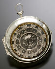 English Verge Fusee Pocket Watch Pre 1700 Pair Case with Original Silver Dial