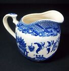 Antique Blue Willow Blue White Creamer Pitcher Japan Elegant Art Pottery Tea