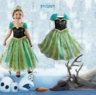 NTW Girls kids Princess Disney Frozen Elsa Anna Cosplay Costume Party Dress 7-8Y
