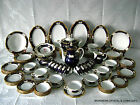 124 PC VTG GERMAN REICHENBACH FINE CHINA PORCELAIN COBALT GOLD SET FOR 12 RARE